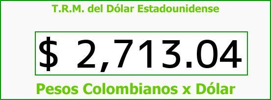 T.R.M. del Dólar para hoy Jueves 16 de Julio de 2015