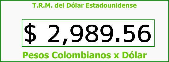 T.R.M. del Dólar para hoy Jueves 16 de Junio de 2016
