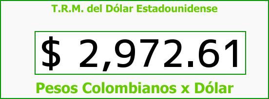 T.R.M. del Dólar para hoy Jueves 16 de Marzo de 2017