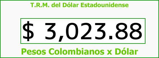 T.R.M. del Dólar para hoy Jueves 16 de Noviembre de 2017