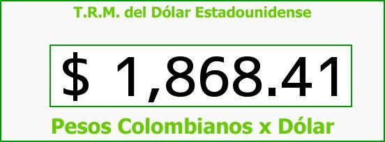 T.R.M. del Dólar para hoy Jueves 17 de Julio de 2014