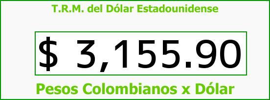 T.R.M. del Dólar para hoy Jueves 17 de Marzo de 2016