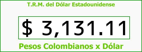 T.R.M. del Dólar para hoy Jueves 17 de Noviembre de 2016