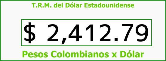 T.R.M. del Dólar para hoy Jueves 18 de Diciembre de 2014