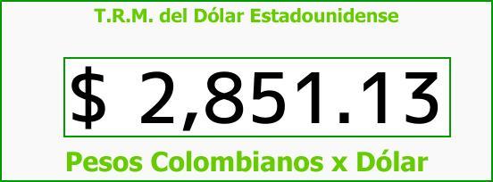 T.R.M. del Dólar para hoy Jueves 18 de Enero de 2018