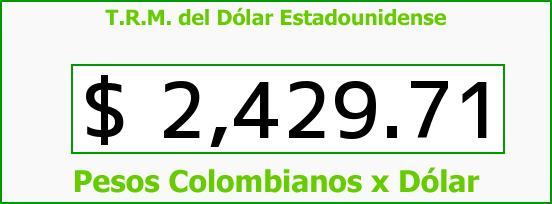 T.R.M. del Dólar para hoy Jueves 19 de Febrero de 2015