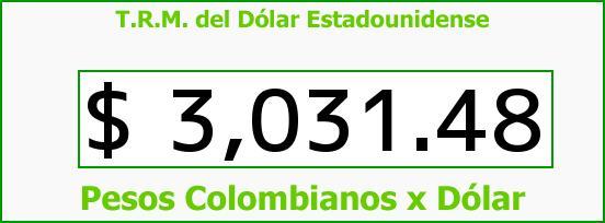 T.R.M. del Dólar para hoy Jueves 19 de Mayo de 2016
