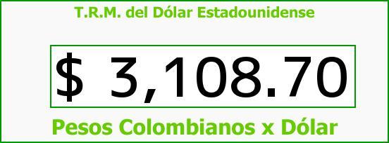 T.R.M. del Dólar para hoy Jueves 19 de Noviembre de 2015