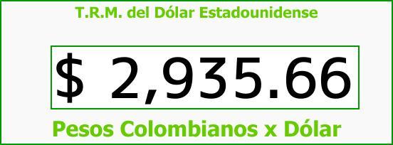 T.R.M. del Dólar para hoy Jueves 19 de Octubre de 2017