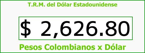 T.R.M. del Dólar para hoy Jueves 2 de Julio de 2015