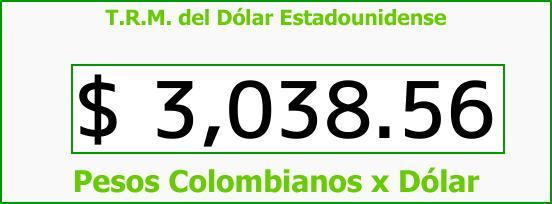 T.R.M. del Dólar para hoy Jueves 2 de Noviembre de 2017