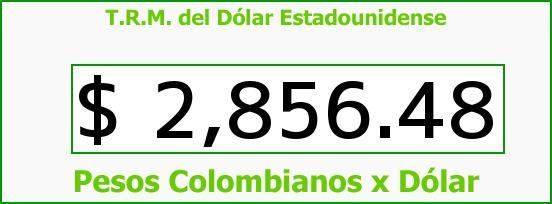 T.R.M. del Dólar para hoy Jueves 20 de Abril de 2017