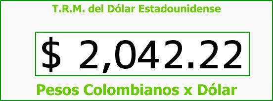 T.R.M. del Dólar para hoy Jueves 20 de Febrero de 2014
