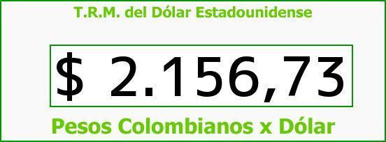 T.R.M. del Dólar para hoy Jueves 20 de Noviembre de 2014