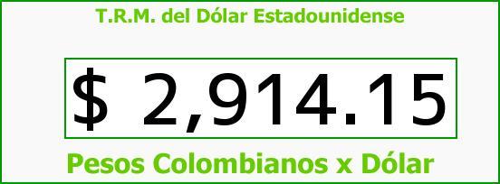 T.R.M. del Dólar para hoy Jueves 20 de Octubre de 2016