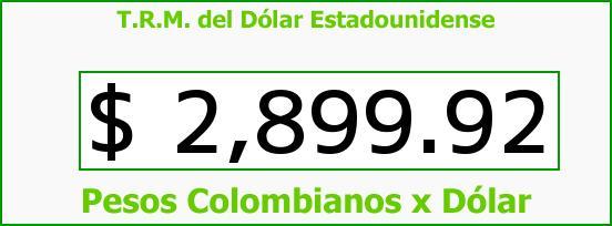 T.R.M. del Dólar para hoy Jueves 21 de Abril de 2016