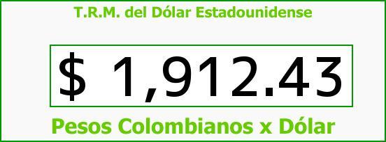 T.R.M. del Dólar para hoy Jueves 21 de Agosto de 2014