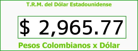 T.R.M. del Dólar para hoy Jueves 21 de Diciembre de 2017