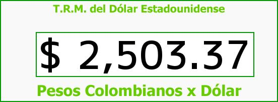 T.R.M. del Dólar para hoy Jueves 21 de Mayo de 2015