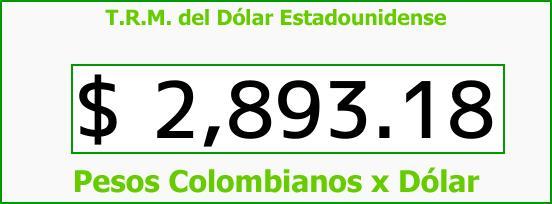 T.R.M. del Dólar para hoy Jueves 21 de Septiembre de 2017