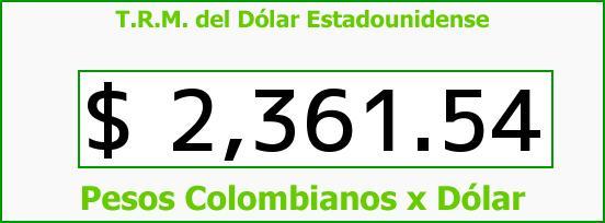 T.R.M. del Dólar para hoy Jueves 22 de Enero de 2015