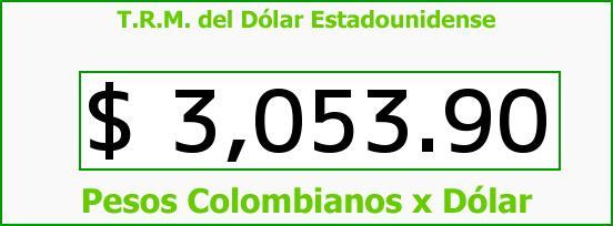 T.R.M. del Dólar para hoy Jueves 22 de Junio de 2017