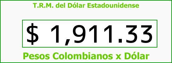 T.R.M. del Dólar para hoy Jueves 22 de Mayo de 2014