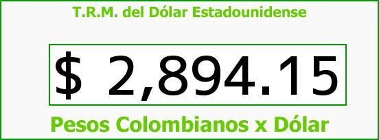 T.R.M. del Dólar para hoy Jueves 22 de Septiembre de 2016