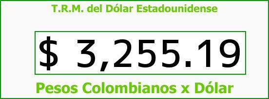 T.R.M. del Dólar para hoy Jueves 24 de Diciembre de 2015