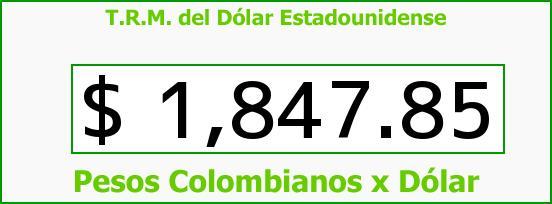 T.R.M. del Dólar para hoy Jueves 24 de Julio de 2014