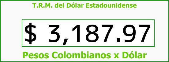 T.R.M. del Dólar para hoy Jueves 24 de Noviembre de 2016