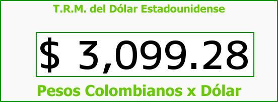 T.R.M. del Dólar para hoy Jueves 24 de Septiembre de 2015