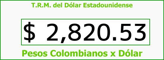 T.R.M. del Dólar para hoy Jueves 25 de Enero de 2018