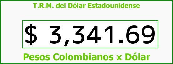 T.R.M. del Dólar para hoy Jueves 25 de Febrero de 2016