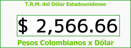 T.R.M. del Dólar para hoy Jueves 25 de Junio de 2015