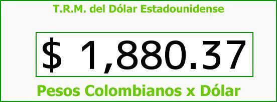 T.R.M. del Dólar para hoy Jueves 26 de Junio de 2014