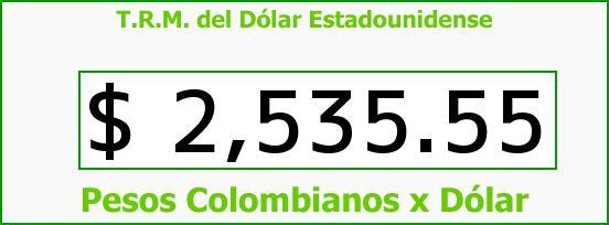 T.R.M. del Dólar para hoy Jueves 26 de Marzo de 2015