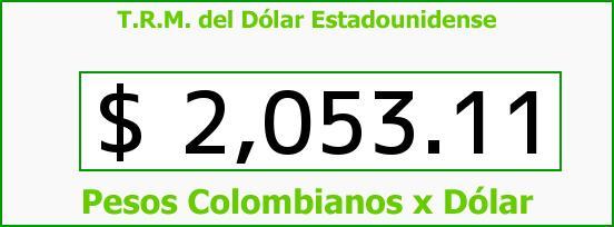T.R.M. del Dólar para hoy Jueves 27 de Febrero de 2014