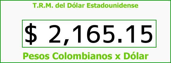 T.R.M. del Dólar para hoy Jueves 27 de Noviembre de 2014