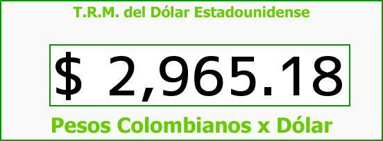 T.R.M. del Dólar para hoy Jueves 27 de Octubre de 2016