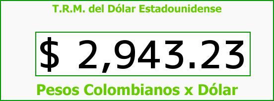 T.R.M. del Dólar para hoy Jueves 28 de Abril de 2016