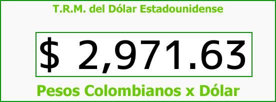 T.R.M. del Dólar para hoy Jueves 28 de Diciembre de 2017
