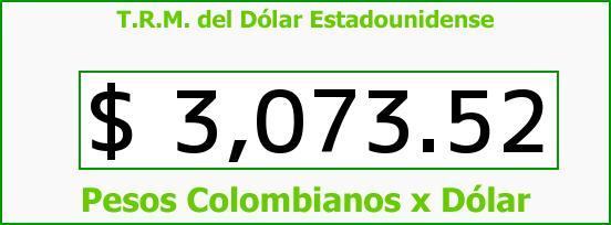 T.R.M. del Dólar para hoy Jueves 28 de Julio de 2016