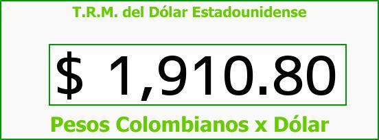 T.R.M. del Dólar para hoy Jueves 29 de Mayo de 2014
