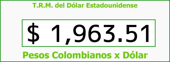 T.R.M. del Dólar para hoy Jueves 3 de Abril de 2014