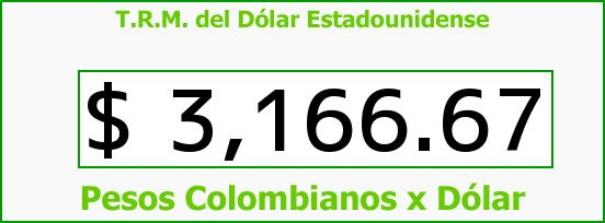 T.R.M. del Dólar para hoy Jueves 3 de Diciembre de 2015