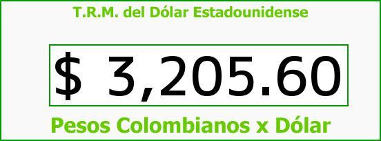 T.R.M. del Dólar para hoy Jueves 3 de Marzo de 2016