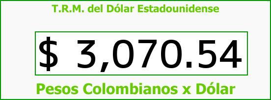 T.R.M. del Dólar para hoy Jueves 3 de Noviembre de 2016