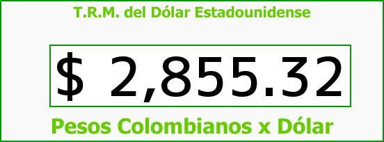 T.R.M. del Dólar para hoy Jueves 30 de Julio de 2015