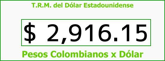 T.R.M. del Dólar para hoy Jueves 30 de Junio de 2016